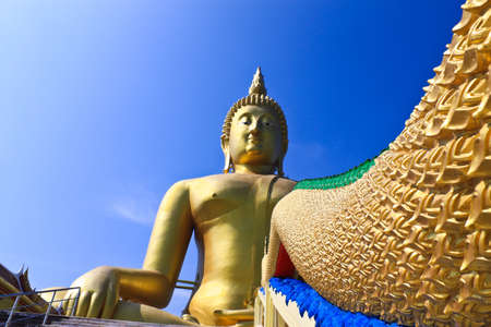 Golden Buddhas at Wat Muang, Ang Thong Province, thailand photo