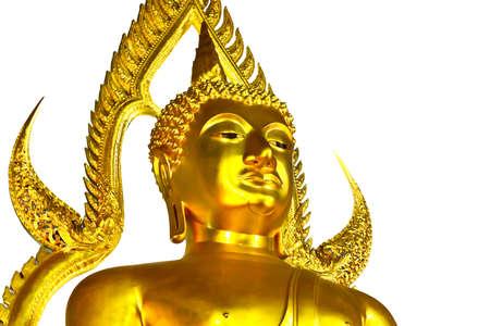 Golden Buddha Statue isolate, thailand Stock Photo