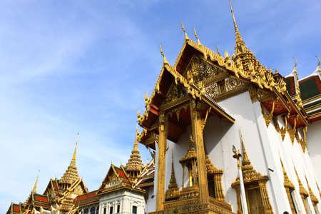 Traditional Thai architecture Grand Palace Bangkok Stock Photo