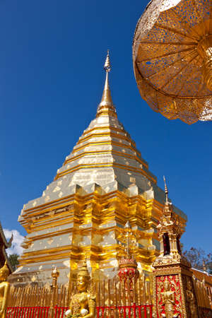 Doi Suthep Temple in Chiang Mai, Thailand Stock Photo
