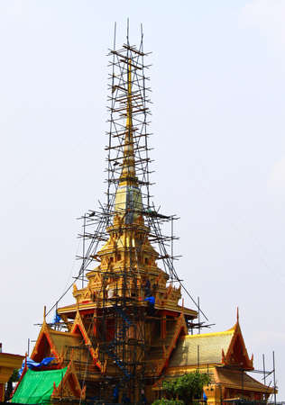 pyre: The Royal funeral pyre  of HRH Pricess Bejaratana Rajasuda of  Thailand