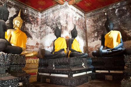 statue Buddha in Wat Suthat Bangkok Thailand