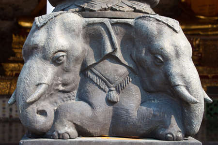 Elephant statue, in wat suthat, Thailand photo