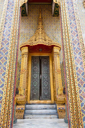 Golden door thai style of Temple in Bangkok Thailand Stock Photo - 12837129