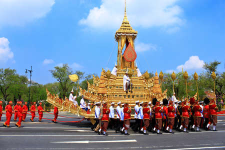 BANGKOK, THAILAND - APRIL 9: The Royal Cremation Ceremony of Prince Bejaratana Rajasuda Sirisobhabannavadi on April 9, 2012