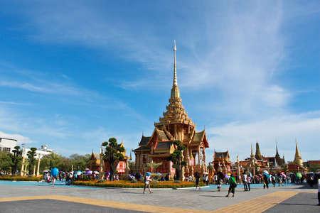 BANGKOK, THAILAND - APRIL 12: The opening of the Royal Crematorium for Her Royal Highness Princess Bejaratana to members of the public on 11-25 april 2012 Bangkok,Thailand Stock Photo - 13257407