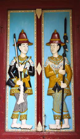 Door in Wat Phra Kaew The Royal Grand Palace - Bangkok, Thailand