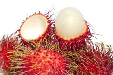 Rambutan fruit isolated on white background photo