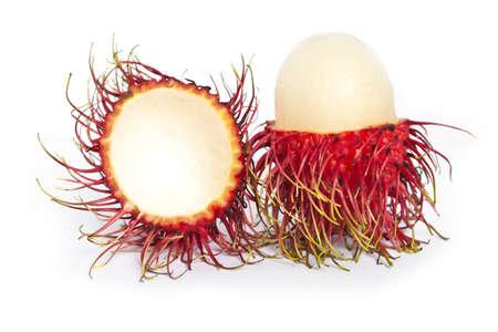 Rambutan fruit isolated on white background Stock Photo - 13813710