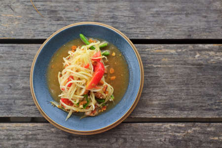 green papaya salad thai food Stock Photo - 14037166