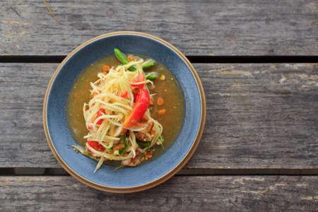 green papaya salad thai food Stock Photo - 14037166