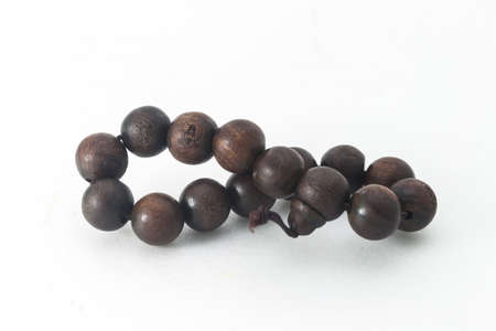 Buddhist wooden-beaded bracelet photo