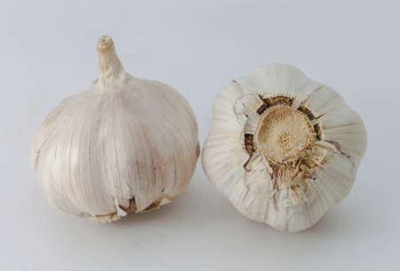 garlic bulb isolated on white background photo
