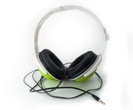headphones on a white Stock Photo - 14315886
