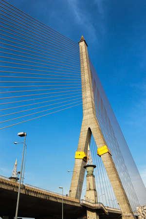 Rama VIII bridge in Bangkok, Thailand Stock Photo