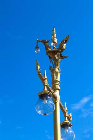 Golden swan, Thai style light pillar lantern.