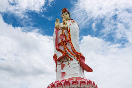 Statue of godness Guan Yin in Thailand Stock Photo