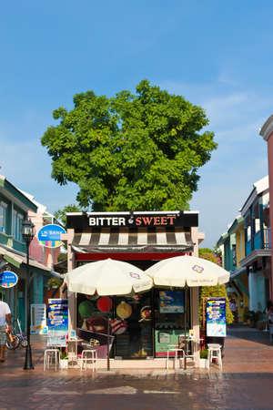 BANGKOK - APRIL 21, 2012 - The ice cream Shop of The Circle, new shopping center at Bangkok, Thailand.