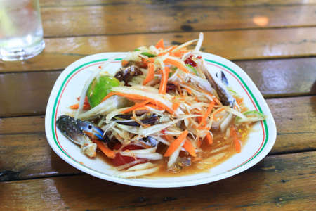 papaya salad with horse crab Stock Photo - 14872110