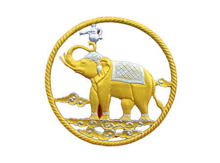 Elephant in tradition Thai style Stock Photo
