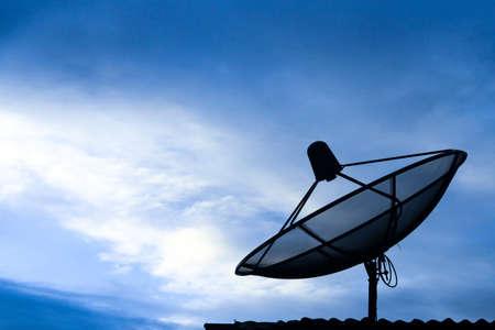 Satellite dish in morning sky Stock Photo - 15015455