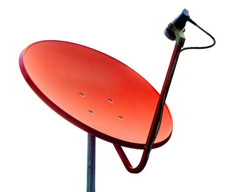 Orange satellite on whilte background Stock Photo - 15660027