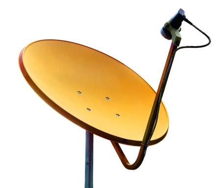 Yellow satellite on whilte background Stock Photo - 15660028