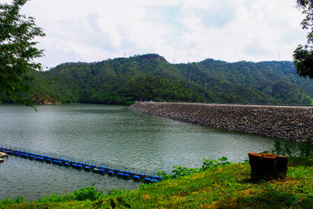 Beautiful dam in Thailand photo