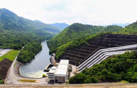 The power station at The dam in Thailand. photo