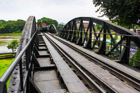 Metal rail road bridge Stock Photo - 16977770