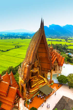 View of Golden Buddha in Thailand photo