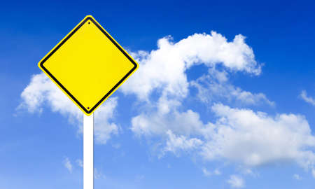 Traffic sign on blue sky photo