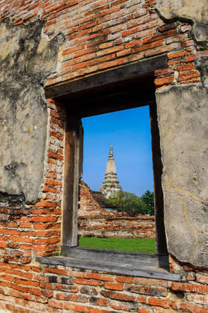 Ruins Temple at Ayutthaya, Thailand photo