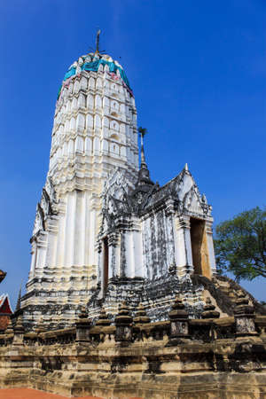 Prang Pagoda of the temple in thailand photo