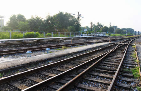 going nowhere: line of railway tracks junction