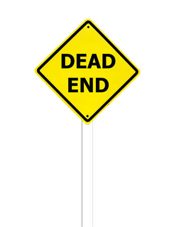 Dead End sign on a white background