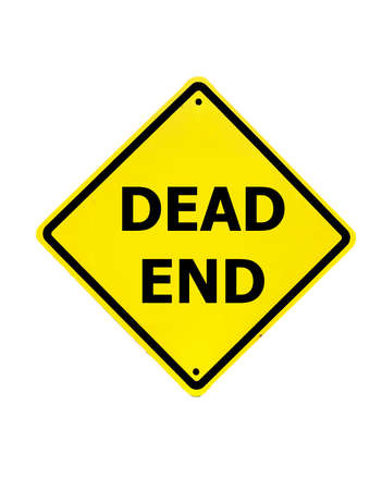 Dead End sign on a white background photo