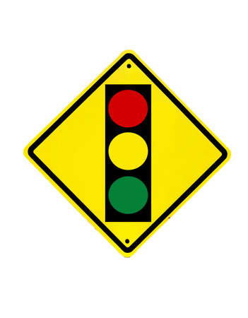 Traffic lights sign on a white background Stock Photo - 19220942