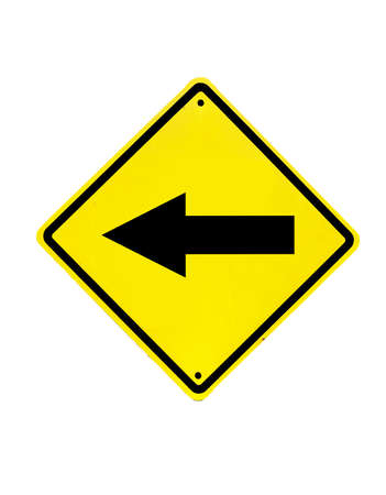 Traffic sign on a white background photo