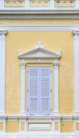 Modern Wooden windows at Summer Palace of the Thai king  Bang Pa-In Palace , Thailand