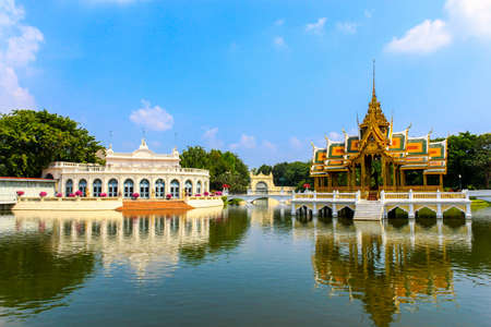 Golden Pavilion, Bang Pa-In Palace in Ayuthaya, Thailand  photo