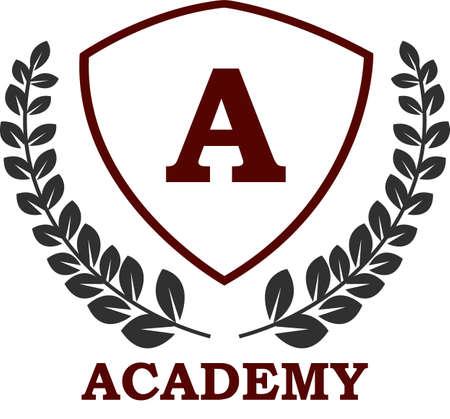 Universität und Akademie Embleme und Symbole
