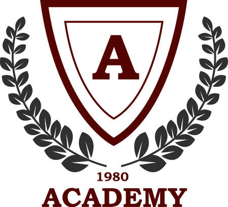 University and Academy Emblems And Symbols Vector