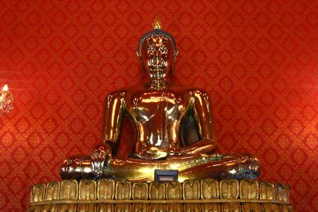 golden Buddha image at temple Bangkok