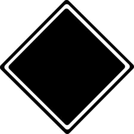 Traffic black Sign isolated on white  Vector
