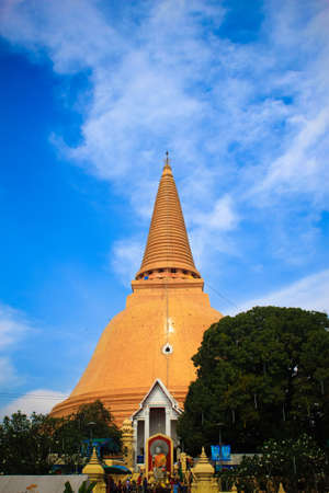 Wat Phra Pathom Chedi, the tallest stupa in the world  It is located in Nakhon Pathom province, Thailand