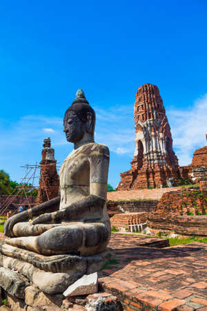 Statue of Buddha at Wat Mahatat, Ayutthaya Thailand  photo