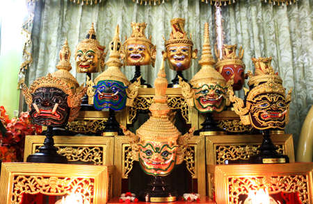 Thai traditional mask use in royal performance, Khon