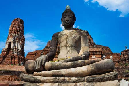 Ruins the temple,Ayutthaya Historical Park, Thailand photo