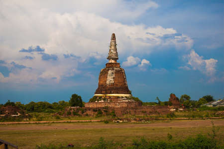 Ruins the temple,Ayutthaya Historical Park, Thailand photo